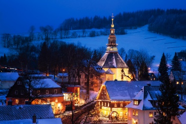 Seiffen Church during Christmas Time