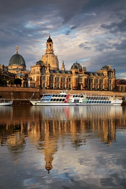 Dresden seen from the river Elbe