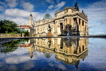 Dresden - Reflection in a pond