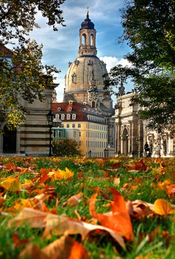 Frauenkirche in autumn