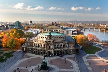 Semperoper in autumn