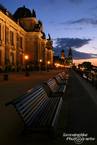 Bruehlsche Terrace After Sunset