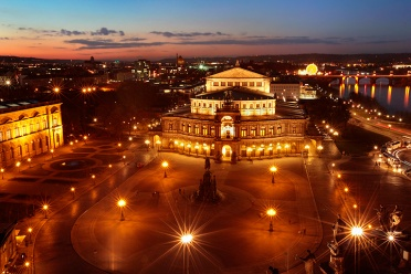 Semperoper at Night