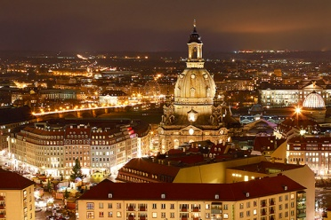 Dresden at Night Winter