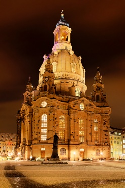 Dresden Frauenkirche Winter Night
