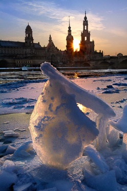 Winter Sunset in Dresden