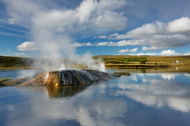 Geysir in river