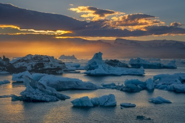 Evening Glow at Jökulsárlón