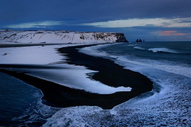Horseshoe Bend on the Black Sand Beach at Vik