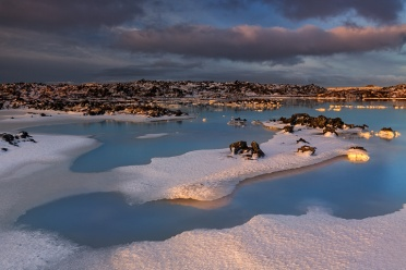 Blue Lagoon Winter Sunrise