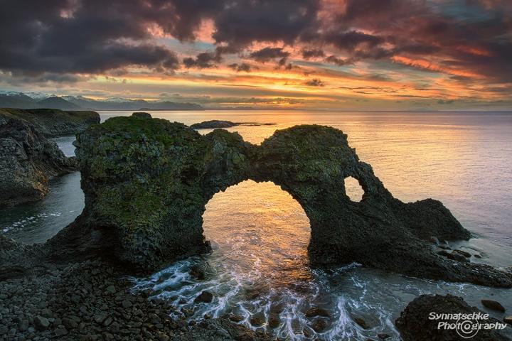 Gatklettur Sea Arch Landscapes Iceland Europe