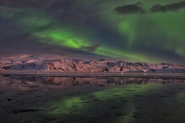 Green Aurora Reflection
