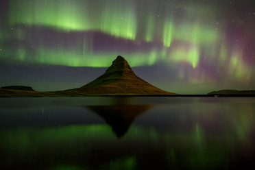 Northern Lights at Kirkjufell
