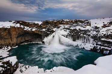 Aldeyjarfoss in Winter