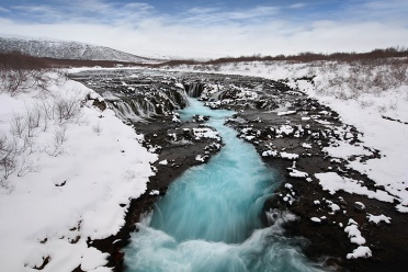 Bruarfoss in winter