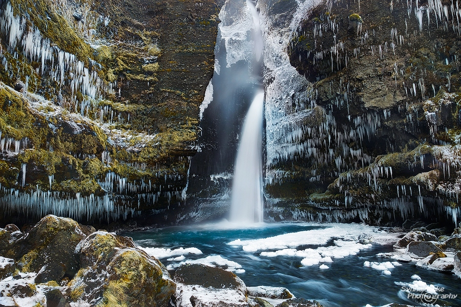 Gluggafoss in winter, Iceland
