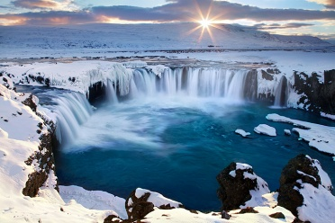 Godafoss at Sunset