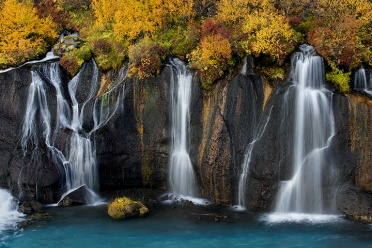 Hraunfossar Fall Colors
