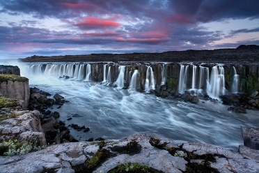 Selfoss under the Midnight Sun