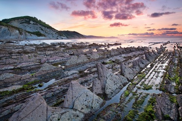 Basque Country Flysch at Sunset
