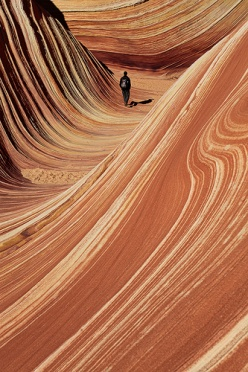 Hiker in the Wave