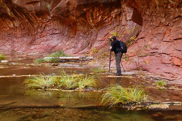 Photographer at West Fork of the Oak Creek Canyon
