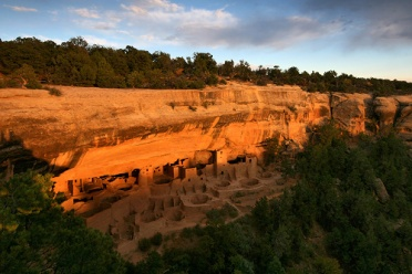 Mesa Verde Cliff Palace at Sunset