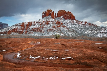 Cathedral Rock View in Winter