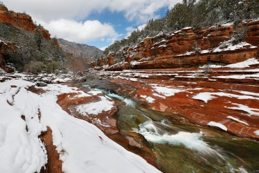Slide Rock State Park in Winter