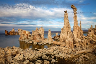Mono Lake South Tufas With Clouds