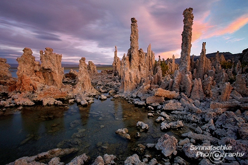 Mono Lake Tufas After Sunset