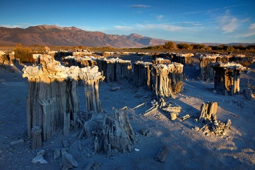 First rays of light on Sand Tufas at Mono Lake