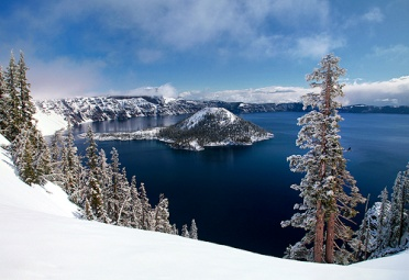 Snow at Crater Lake