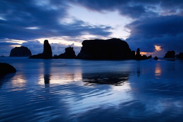 Bandon Beach Blue Hour