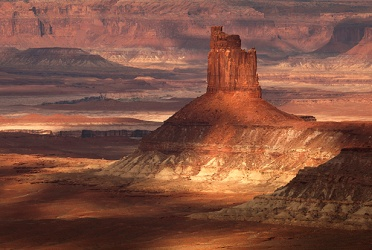 Lights and Shadow on a Canyonlands Butte