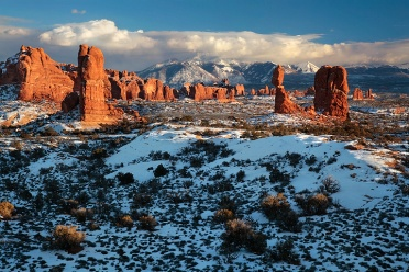 Winter Sunset at Arches N.P.