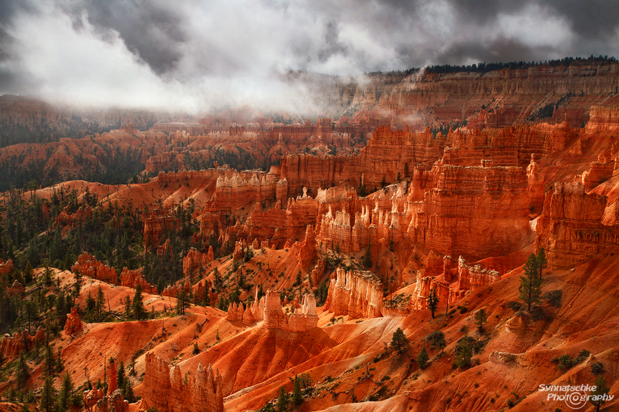 Bryce Canyon with clouds