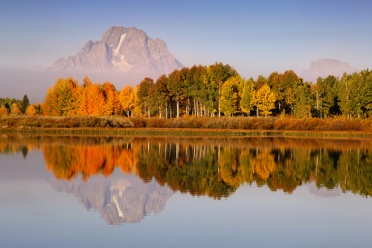 Oxbow Bend Reflection in Fall