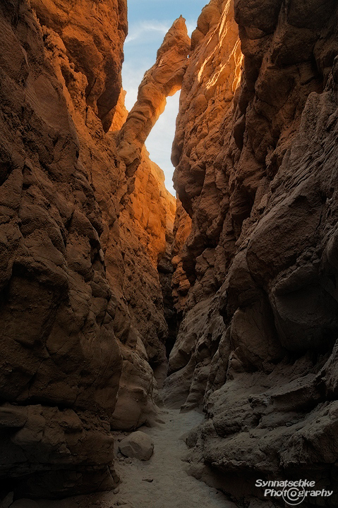 Slot Canyon Arch at Anza-Borrego Desert State Park