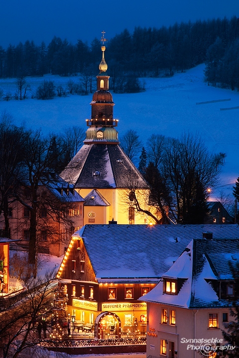 Christmas at the Ore Mountains - Church in Seiffen