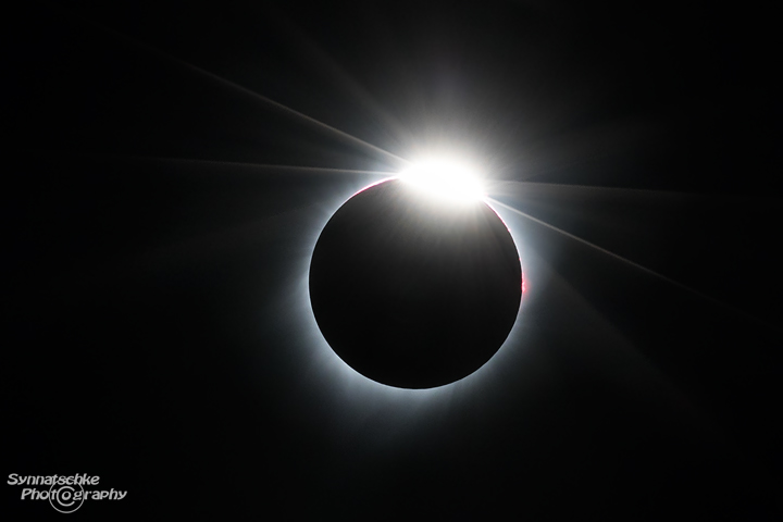 Diamond Ring during the Third Contact at the Total Solar Eclipse in Oregon 2017