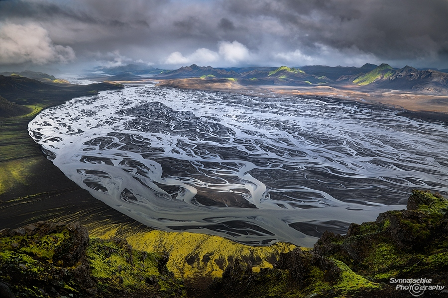 Glacial River in the Icelandic Highlands