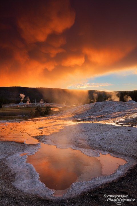 Heart Spring at Yellowstone National Park